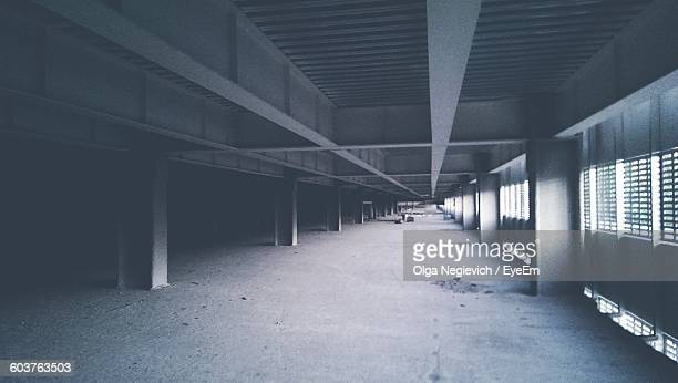Interior Of Old Parking Lot