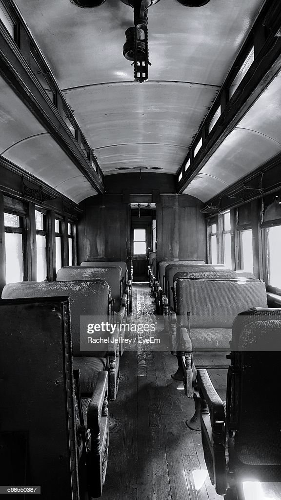 Interior Of Old Train : Stock Photo
