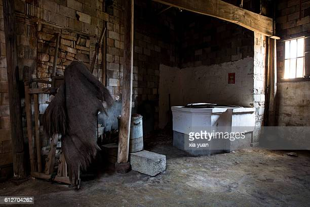 Interior Of Old-Fashioned Chinese Kitchen
