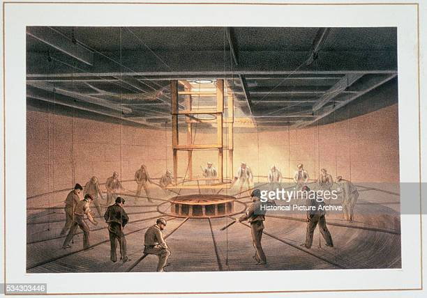 Interior of One of the Tanks on Board the Great Eastern - Cable Passing Out by Robert Dudley