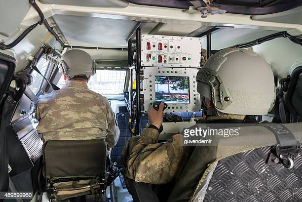 interior of otokar cobra armored vehicle - armored vehicle stock pictures, royalty-free photos & images