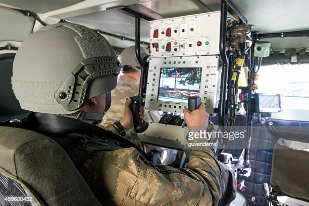 Interior of Otokar Cobra armored vehicle