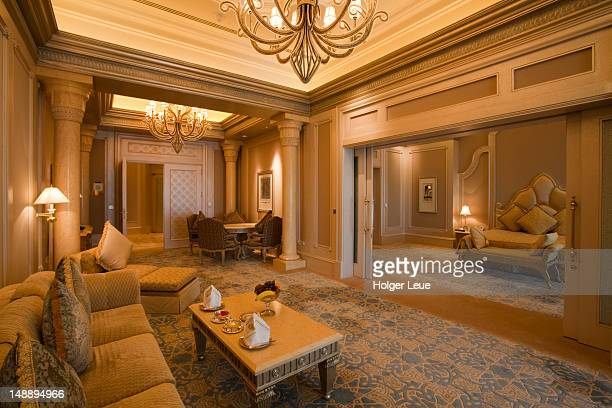 Interior of Palace Suite at Emirates Palace Hotel.