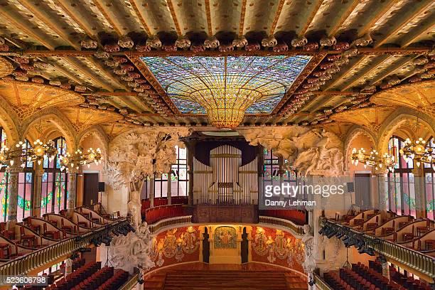 Interior of Palau de la Musica Catalana Concert Hall, Barcelona