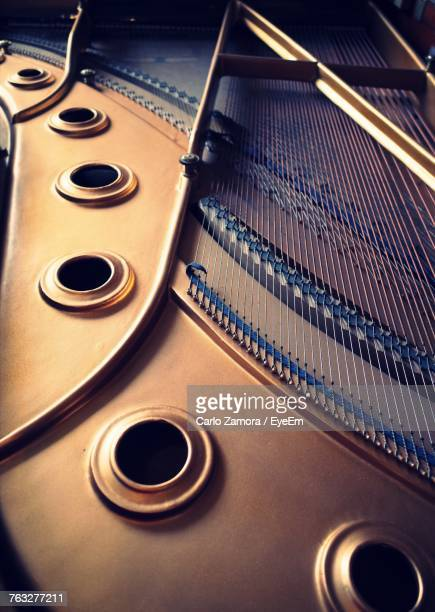 interior of piano - grand piano stock pictures, royalty-free photos & images