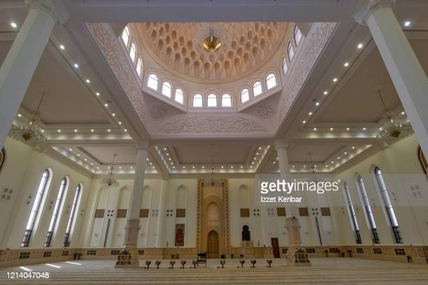 interior of qurayat great mosque, oman sultanate - arabian peninsula stock pictures, royalty-free photos & images