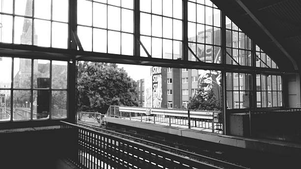 Interior Of Railroad Station Against Sky