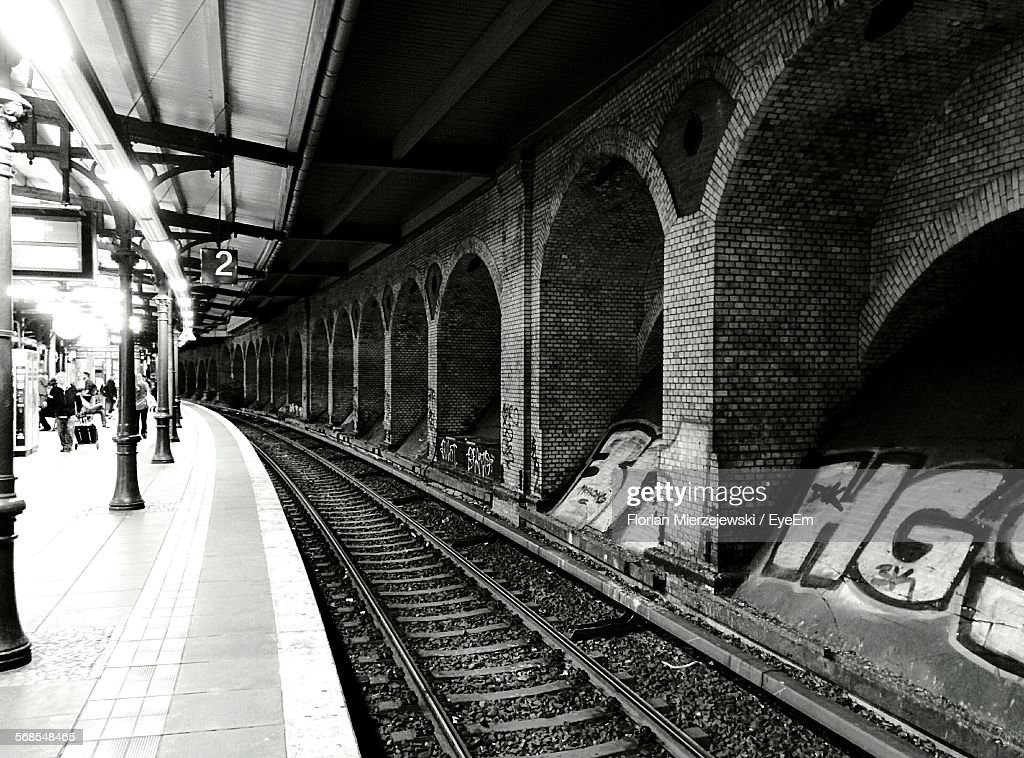 Interior Of Railroad Station : Stock Photo