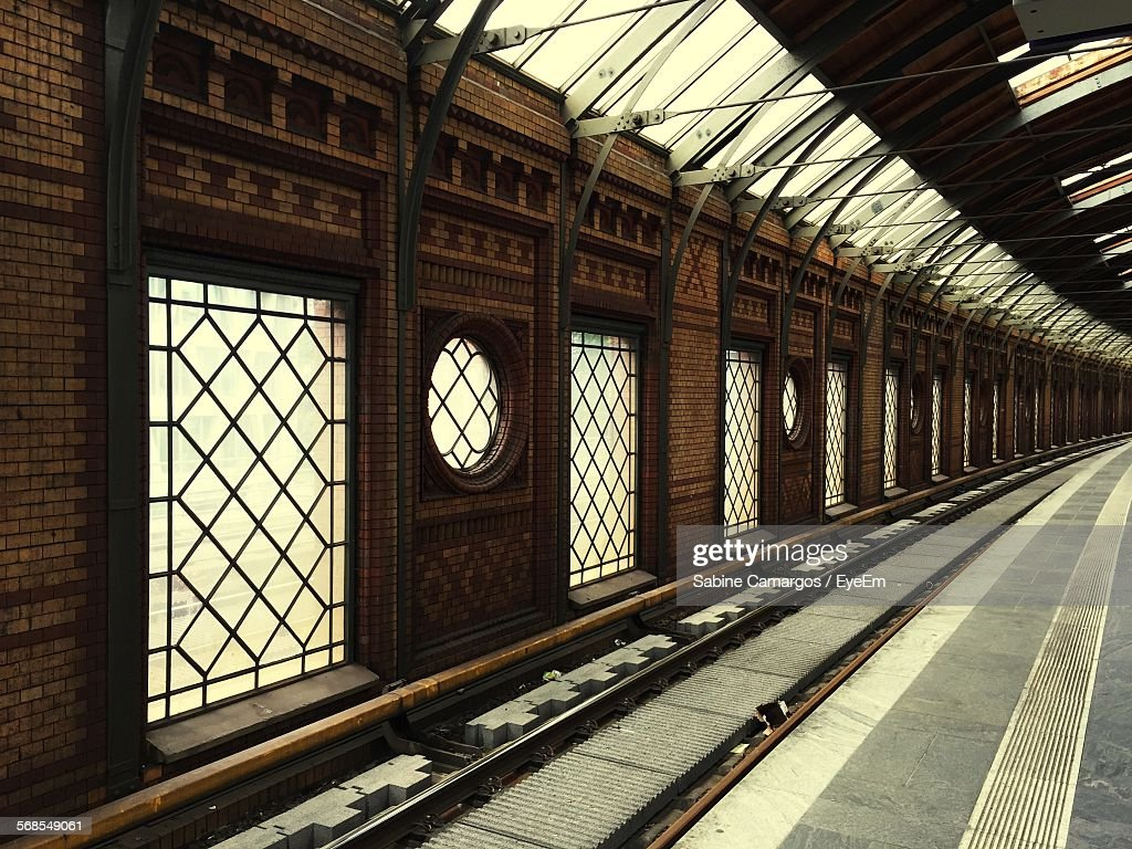 Interior Of Railroad Track : Stock Photo