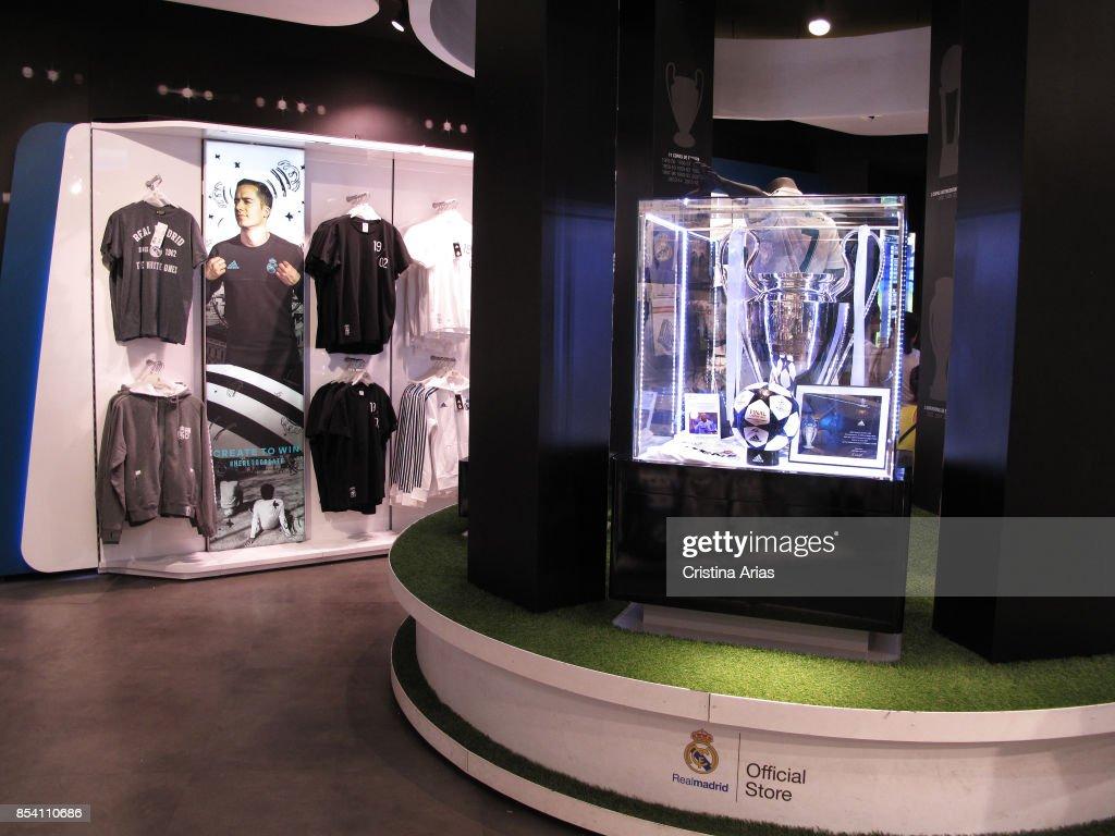 65d858b76 Interior of Real Madrid Office Store in Gran Via street in Madrid on ...
