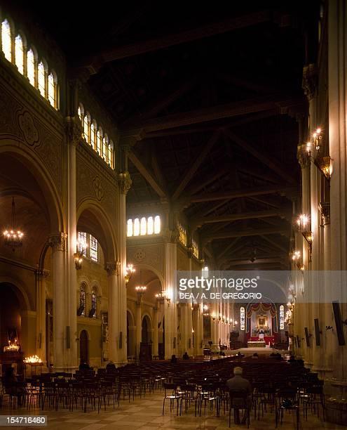 Interior of Reggio Calabria cathedral Calabria Italy 20th century