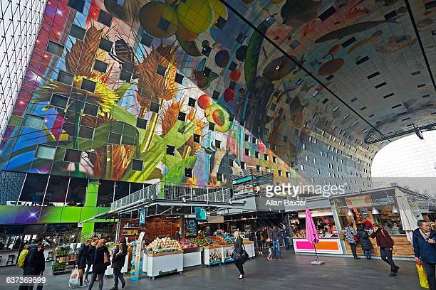 Interior of Rotterdam's Markthal market Hall