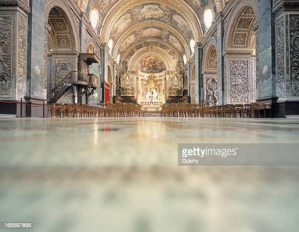 Interior of  Saint John's Cathedral, Valletta, Malta.