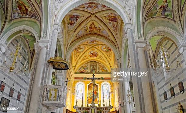 Interior Of Saint Peter Church, Corniglia, Cinque Terre