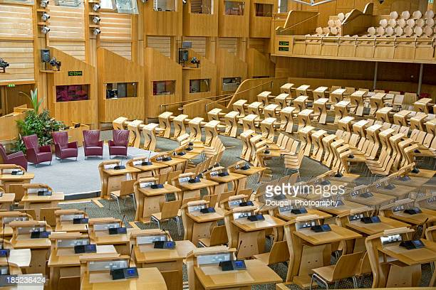 Interior of Scottish Parliament in Edinburgh