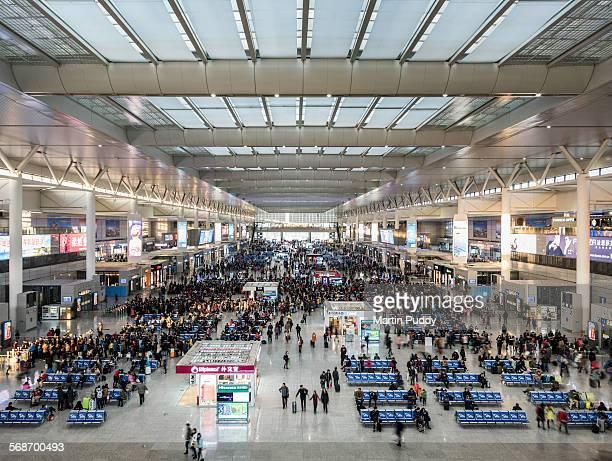Interior of Shanghai's Hongqiao railway station