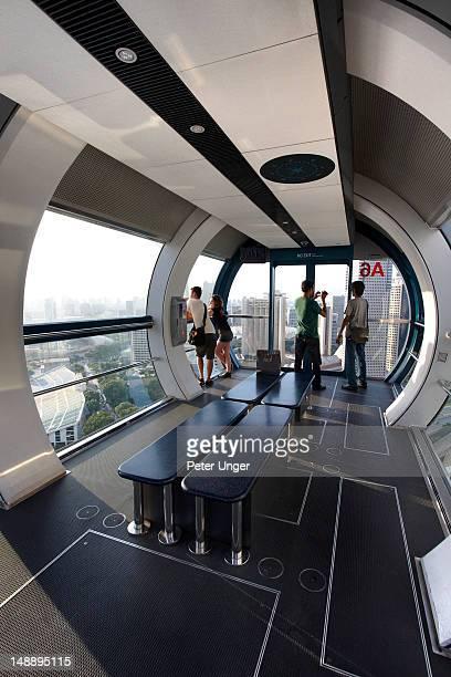 Interior of Singapore Flyer capsule.