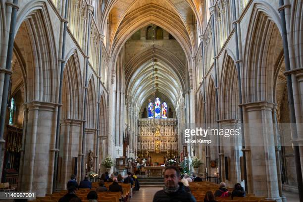 Interior of Southwark Cathedral in London, England, United Kingdom. Southwark Cathedral or The Cathedral and Collegiate Church of St Saviour and St...