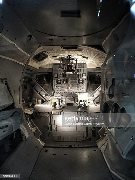 interior of space shuttle - spaceship stock photos and pictures