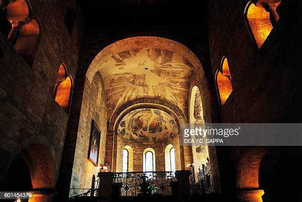 Interior of St George's Basilica historical centre of Prague Czech Republic 17th century