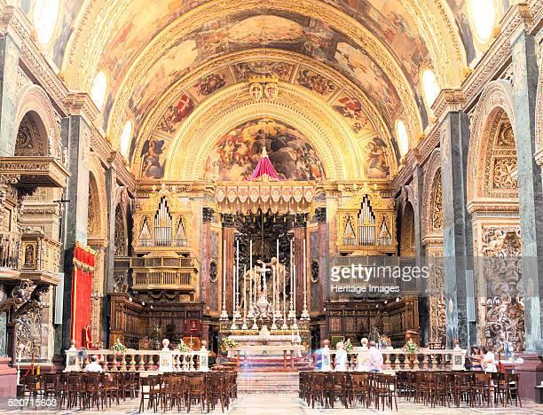 Interior of St John's CoCathedral Valletta Malta St John's CoCathedral was built between 1573 and 1578 by the Maltese architect Gerolamo Cassar...