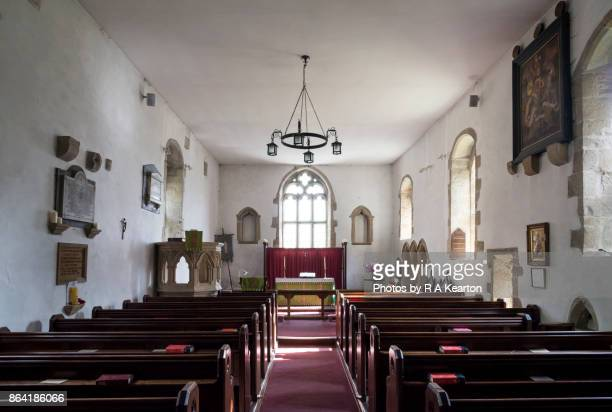 Interior of St Oswald's church, Castle Bolton, North Yorkshire, England