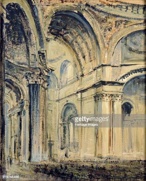 Interior of St Paul's Cathedral circa 1910 Artist JF Barry Pittar