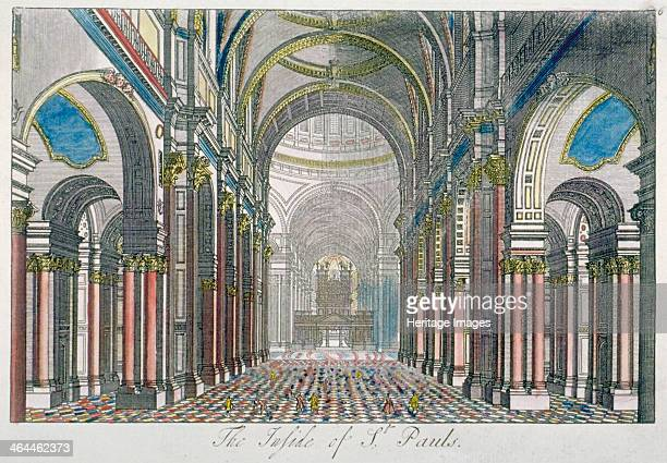 Interior of St Paul's Cathedral, looking east from the nave towards the choir, City of London, 1750.