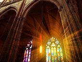 Interior of St. Vitus Cathedral, Prague, Czech Republic