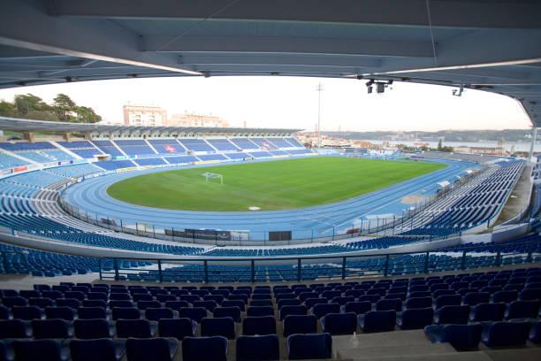 Interior of Stadium Belenenses, Restelo football stadium, Belem.