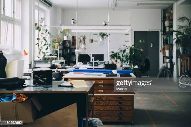 interior of start-up office - design studio stock pictures, royalty-free photos & images