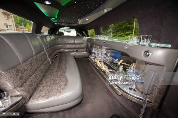 Interior of stretch Hummer