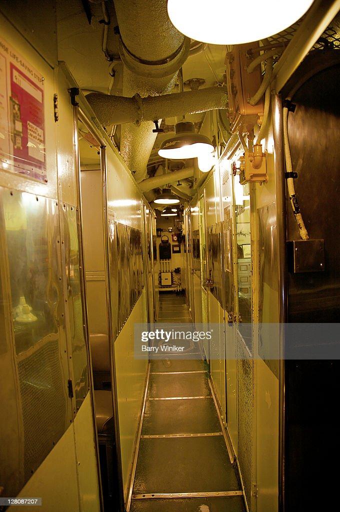 Interior Of Submarine Uss Drum Uss Alabama Battleship Memorial Park Mobile Alabama Stock Photo