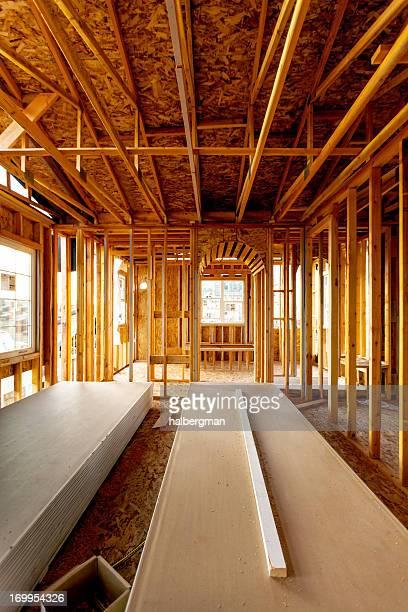 Interior of Suburban Home Under Construction