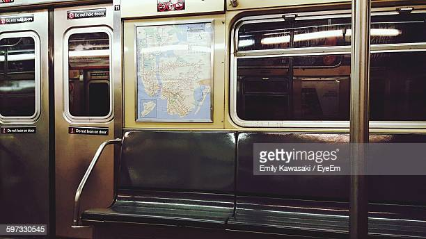 interior of subway train - underground stock photos and pictures