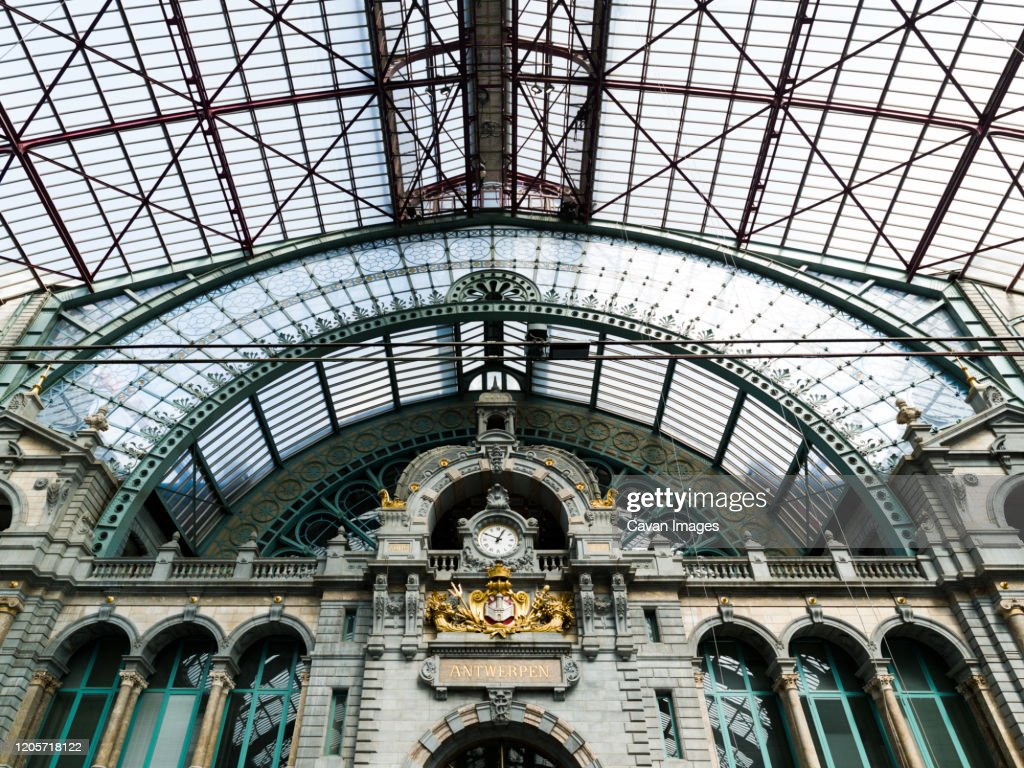Interior Of The Antwerp Central Station Belgium High Res Stock Photo Getty Images