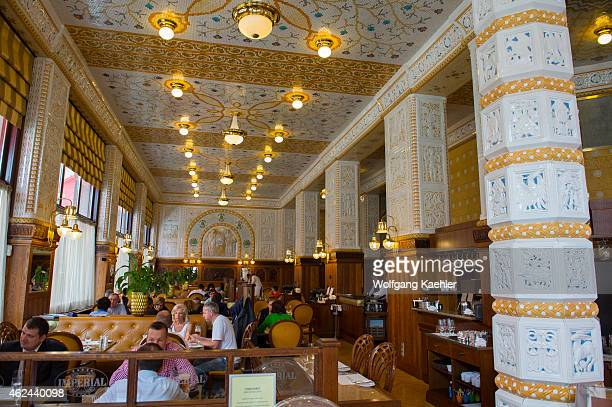 Interior of the art deco Café Imperial which has been the most famous and most popular Grand Cafe House in Prague for the past 100 years Once...