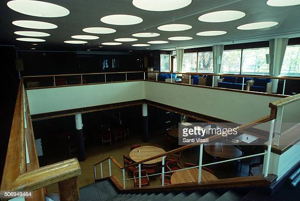 Interior of the Baker House by Alvar Aalto on May 9 1988 in Cambridge Massachussetts