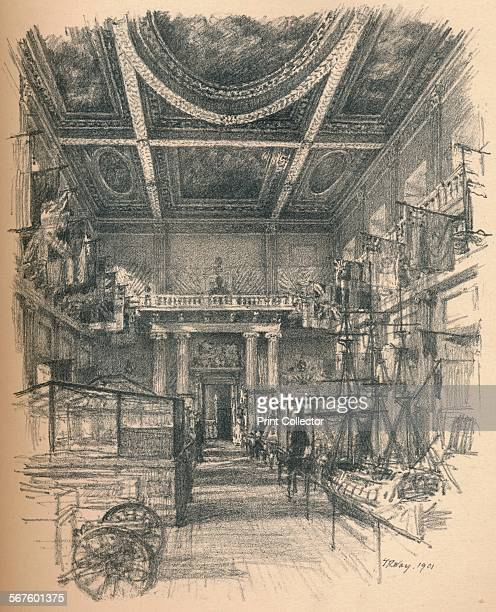 'Interior of the Banqueting Hall, Whitehall Palace', 1902. From Ancient Royal Palaces in and Near London. [John Lane, London and New York, 1902].