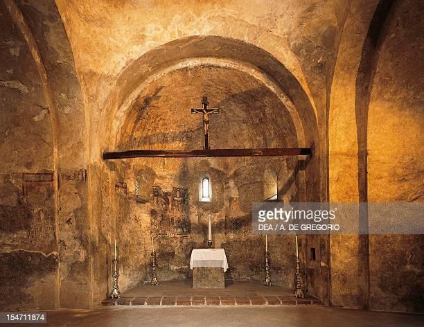 Interior of the Baptistery of San Giovanni Battista in Biella Italy 9th10th century