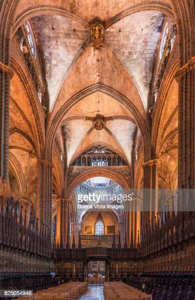 Interior of the Barcelona Cathedral