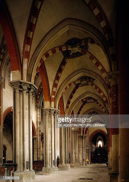 Interior of the Basilica of Saint Andrew Vercelli Piedmont Italy
