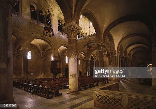 Interior of the Basilica of San Nicola di Bari Apulia Italy 11th century