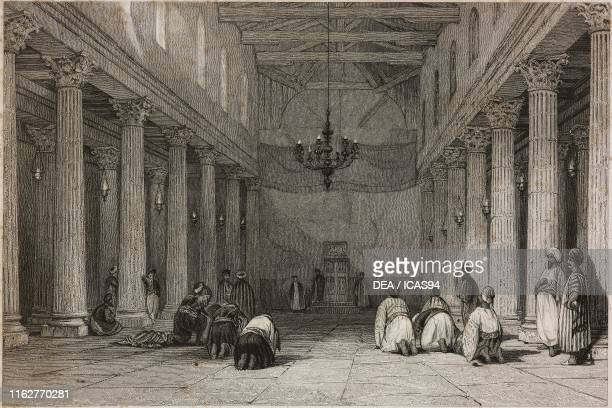 Interior of the Basilica of the Nativity Bethlehem Palestine engraving by W Radclyffe after a drawing by T Allom from La Siria e l'Asia minore...