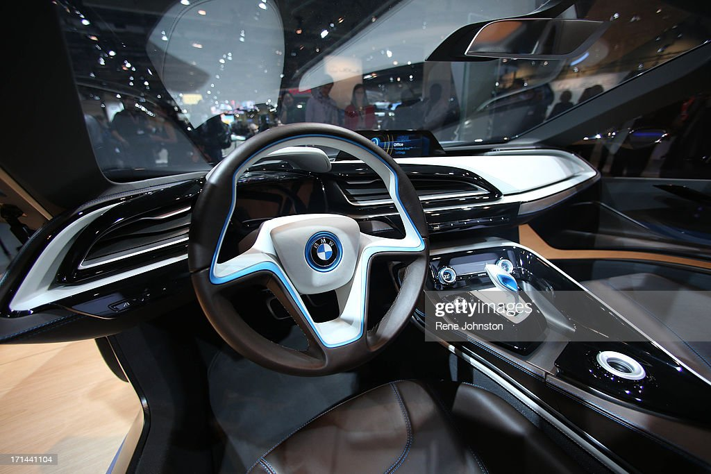 Interior Of The Bmw I8 Concept Car At The Canadian Auto Show Rene
