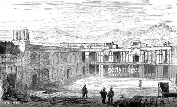 Interior of the British Residency Cabul Looking South' Episode of the Second AngloAfghan War from 1878 to 1880 From British Battles on Land and Sea...