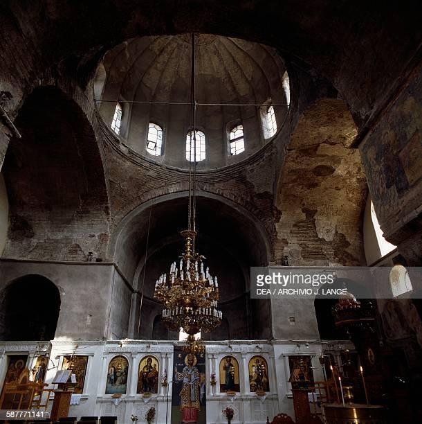 Interior of the Byzantine church of Panagia Kosmosotira Feres Eastern Macedonia and Thrace Greece 12th century
