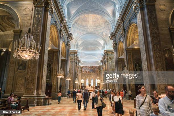 interior of the cathedral of ferrara - ferrara stock pictures, royalty-free photos & images