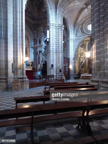 interior of the cathedral of jerez de la frontera - jerez de la frontera fotografías e imágenes de stock