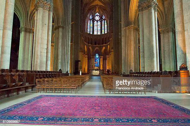 Interior of the Cathedral of NotreDame in the city of Reims in the Champagne region France